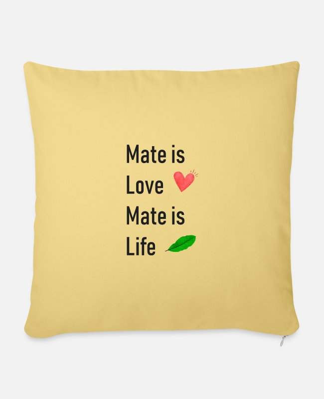Mateo Pillow Cases - Mate is Life - Pillowcase 17,3'' x 17,3'' (45 x 45 cm) washed yellow