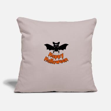 Happy Halloween bat - Pillowcase 17,3'' x 17,3'' (45 x 45 cm)