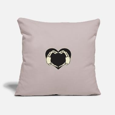 Hands Heart Skeleton - Pillowcase 17,3'' x 17,3'' (45 x 45 cm)