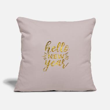Message Hello new year - Pillowcase 17,3'' x 17,3'' (45 x 45 cm)