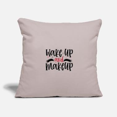 Pretty Wake Up And Makeup Design - Pillowcase 17,3'' x 17,3'' (45 x 45 cm)