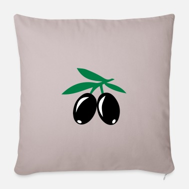 Olive olives - Pillowcase 17,3'' x 17,3'' (45 x 45 cm)