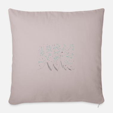 Sun Signs Zodiac signs, night sky, mountains, stars, planets - Pillowcase 17,3'' x 17,3'' (45 x 45 cm)