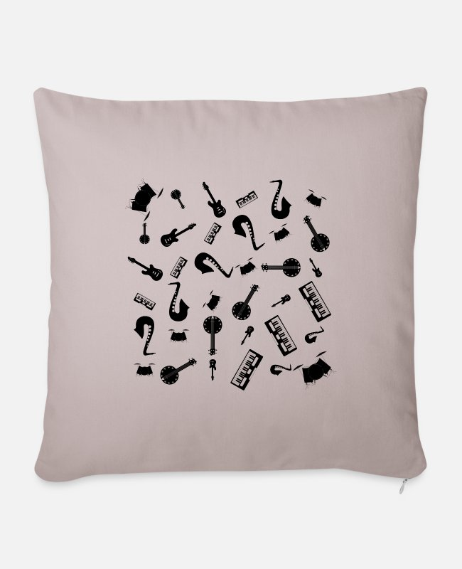 Guitar Pillow Cases - Musical instruments - Pillowcase 17,3'' x 17,3'' (45 x 45 cm) light taupe