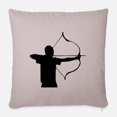 Arrow Arrow and bow Sagittarius - Pillowcase 17,3'' x 17,3'' (45 x 45 cm)