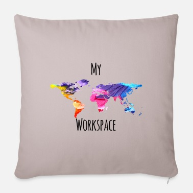 Workspace My workspace digital nomad sayings - Pillowcase 17,3'' x 17,3'' (45 x 45 cm)
