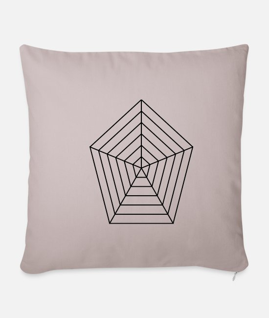 Cobweb Pillow Cases - Spider web - Pillowcase 17,3'' x 17,3'' (45 x 45 cm) light taupe