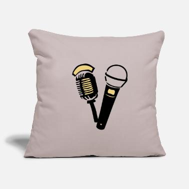 Old old old microphone - Pillowcase 17,3'' x 17,3'' (45 x 45 cm)