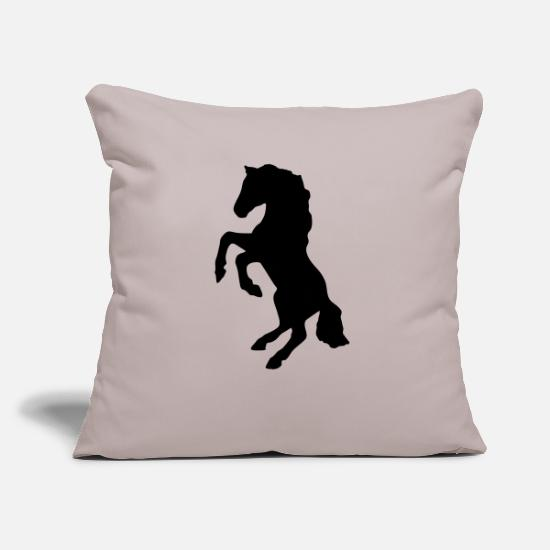 Horse Racing Pillow Cases - pferde reiten galloping jockey pony tribal - Pillowcase 17,3'' x 17,3'' (45 x 45 cm) light grey