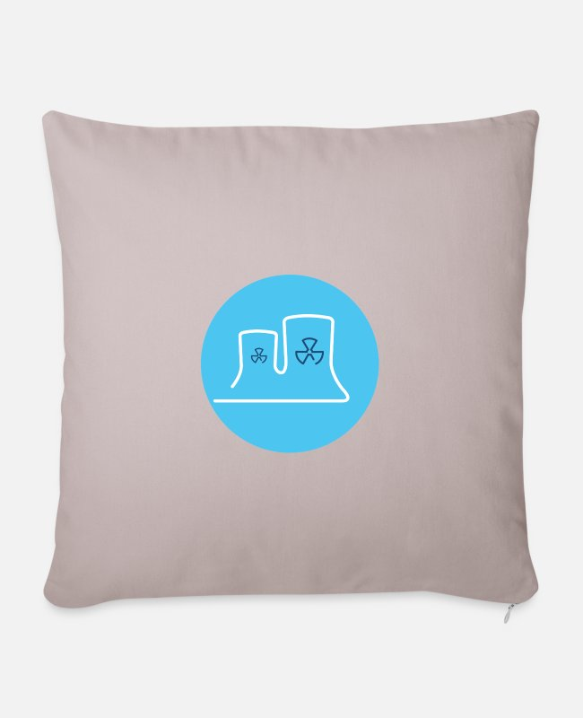 Energy Transition Pillow Cases - Nuclear power station - Pillowcase 17,3'' x 17,3'' (45 x 45 cm) light taupe