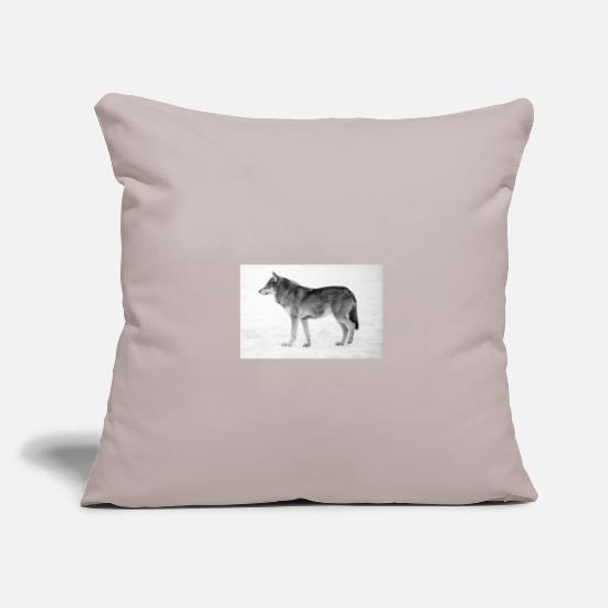 Fur Pillow Cases - The Wolf - Pillowcase 17,3'' x 17,3'' (45 x 45 cm) light taupe