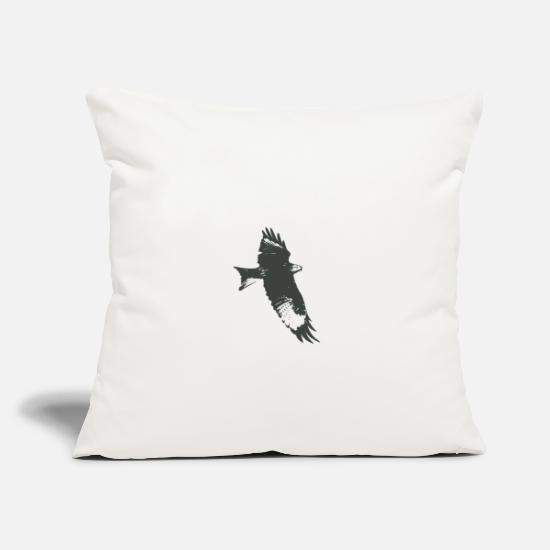 Hawk Pillow Cases - Eagle, hawk, falcon - Pillowcase 17,3'' x 17,3'' (45 x 45 cm) natural white