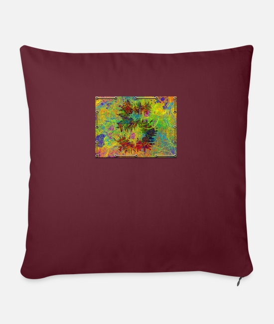 Old Pillow Cases - 5. date of birth - Pillowcase 17,3'' x 17,3'' (45 x 45 cm) burgundy