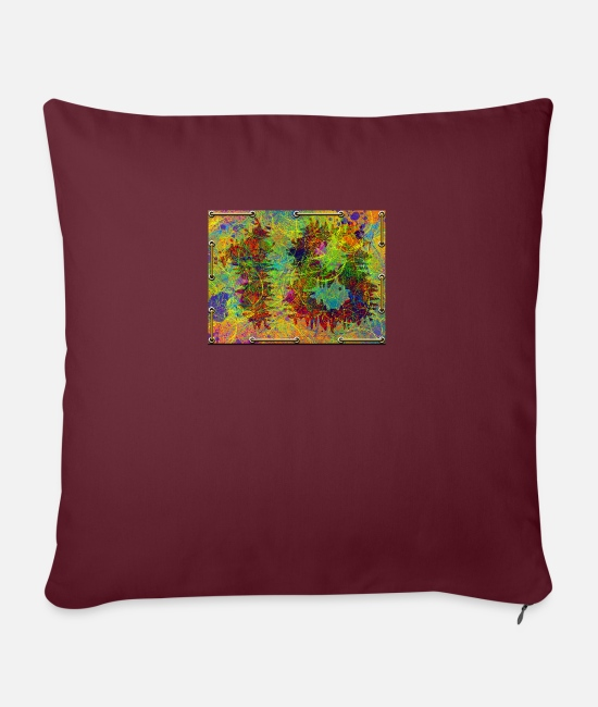 Old Pillow Cases - 18th birthday - Pillowcase 17,3'' x 17,3'' (45 x 45 cm) burgundy