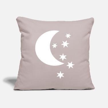 Half Moon half moon and stars - Pillowcase 17,3'' x 17,3'' (45 x 45 cm)