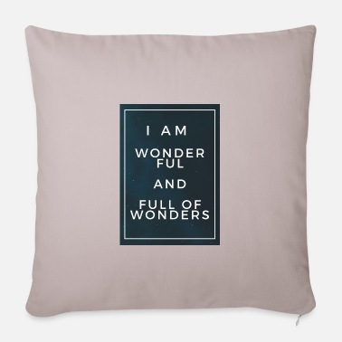 Wonderful and full of wonders - Pillowcase 17,3'' x 17,3'' (45 x 45 cm)