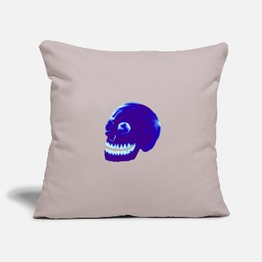Stylized Blue Skull - Pillowcase 17,3'' x 17,3'' (45 x 45 cm)