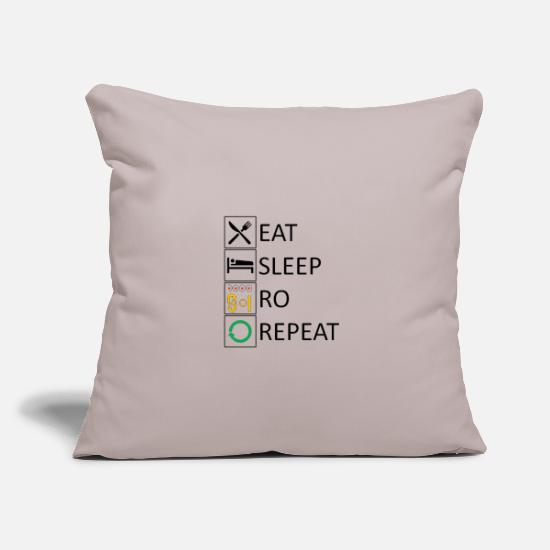 Love Pillow Cases - Eat sleep RO repeat - Pillowcase 17,3'' x 17,3'' (45 x 45 cm) light taupe