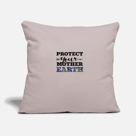 Protection Of The Environment Pillow Cases - Protect your mother earth - Pillowcase 17,3'' x 17,3'' (45 x 45 cm) light grey