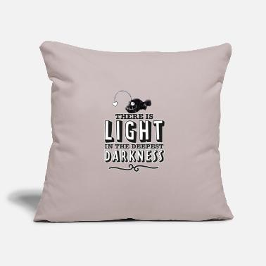 There is light in the deepest darkness. - Pillowcase 17,3'' x 17,3'' (45 x 45 cm)