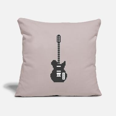Guitariste Pixel E Guitar Player Guitarist Gamer Gift - Housse de coussin