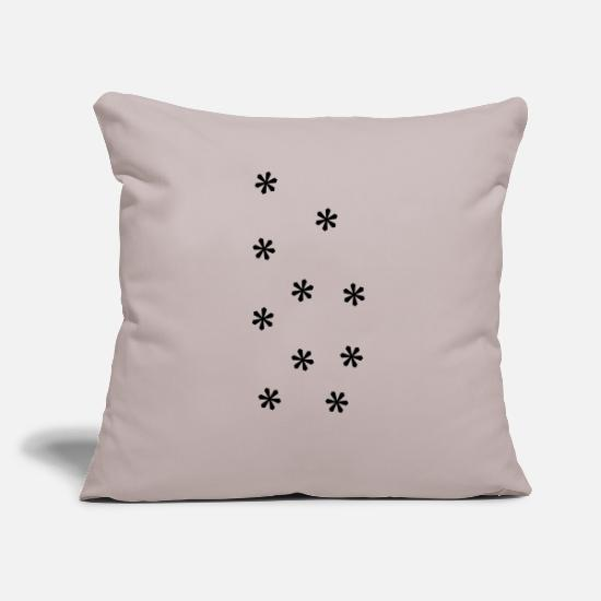 Christmas Pillow Cases - Snowfall for Christmas - Pillowcase 17,3'' x 17,3'' (45 x 45 cm) light grey