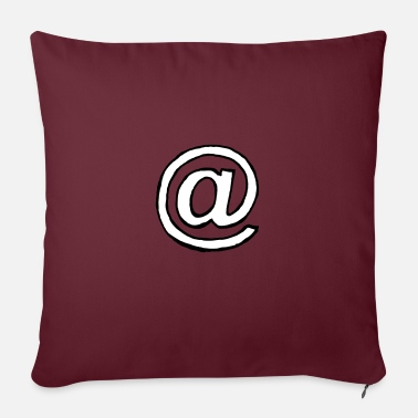 Miscellaneous Miscellaneous - At sign - sw - Pillowcase 17,3'' x 17,3'' (45 x 45 cm)