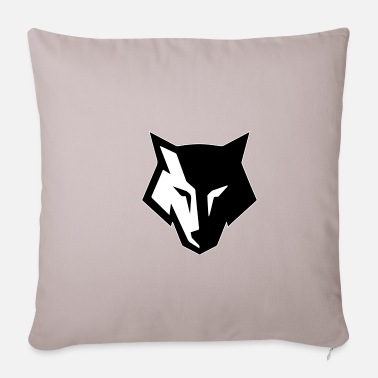 Black and white wolf with white outline - Pillowcase 17,3'' x 17,3'' (45 x 45 cm)