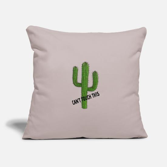 Prickly Pillow Cases - Can not touch this - Pillowcase 17,3'' x 17,3'' (45 x 45 cm) light grey