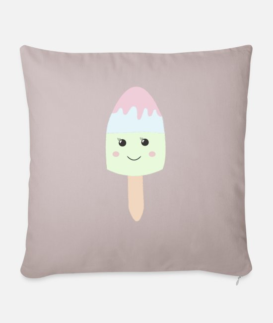 Beady Eyes Pillow Cases - I am a sweet style ice cream gift idea - Pillowcase 17,3'' x 17,3'' (45 x 45 cm) light taupe