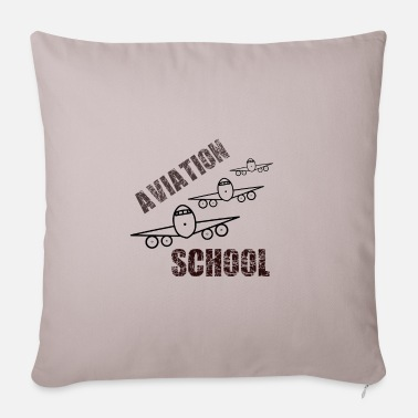 Flight School flight school - Pillowcase 17,3'' x 17,3'' (45 x 45 cm)