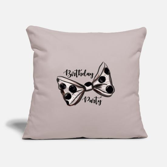 Birthday Party Pillow Cases - Birthday Party. Trendy Girl. Girly Birthday Party. - Pillowcase 17,3'' x 17,3'' (45 x 45 cm) light grey