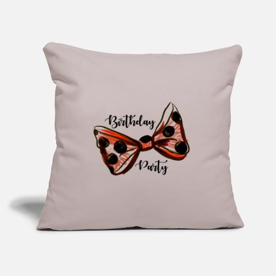 Birthday Party Pillow Cases - Birthday Party. Trendy Girl. Birthday Party Gift - Pillowcase 17,3'' x 17,3'' (45 x 45 cm) light grey