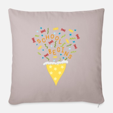 School School beginner, pre school, school, school cone - Pillowcase 17,3'' x 17,3'' (45 x 45 cm)