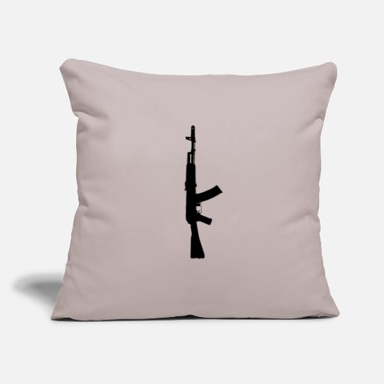 Gift Idea Pillow Cases - Assault rifle Ak-47 Russia rifle - Pillowcase 17,3'' x 17,3'' (45 x 45 cm) light grey