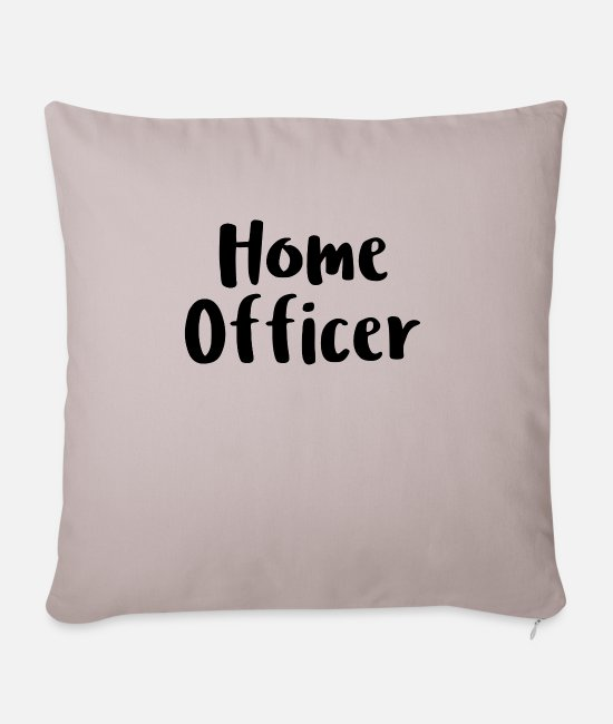 Office Pillow Cases - Home officer - Pillowcase 17,3'' x 17,3'' (45 x 45 cm) light taupe