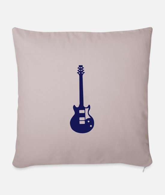 Guitar Pillow Cases - electric guitar 2303 - Pillowcase 17,3'' x 17,3'' (45 x 45 cm) light taupe