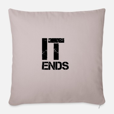 End it ends - Pillowcase 17,3'' x 17,3'' (45 x 45 cm)
