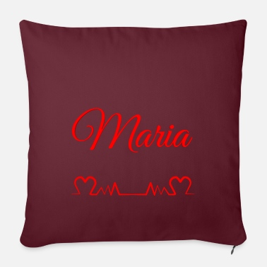Birth Name maria, first name, girl, birth name - Pillowcase 17,3'' x 17,3'' (45 x 45 cm)