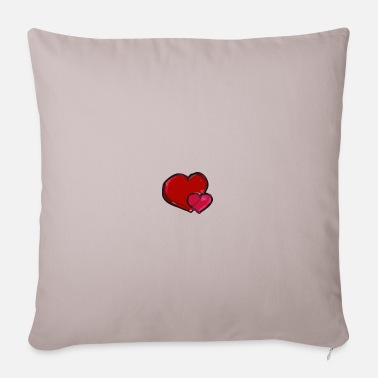 Heart Heart to heart heart to heart - Pillowcase 17,3'' x 17,3'' (45 x 45 cm)