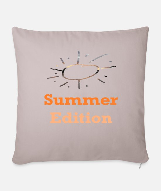Travel Bug Pillow Cases - Summer Edition / Sayings / Trend - Pillowcase 17,3'' x 17,3'' (45 x 45 cm) light taupe