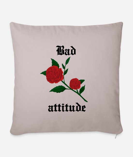 Darkness Pillow Cases - Bad attitude heart rose gothic culture gift idea - Pillowcase 17,3'' x 17,3'' (45 x 45 cm) light taupe
