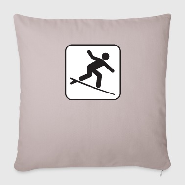 Surfing Poster - Sofa pillow cover 44 x 44 cm