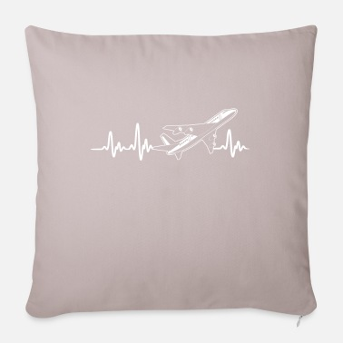 Commercial COMMERCIAL PLANES - HEARTBEAT - Pillowcase 17,3'' x 17,3'' (45 x 45 cm)