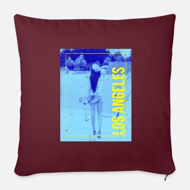 Venice Los Angeles Retro Skater Girl - Pillowcase 17,3'' x 17,3'' (45 x 45 cm)