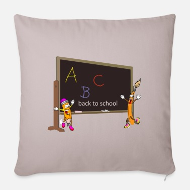 School back to school, back to school, schooling - Pillowcase 17,3'' x 17,3'' (45 x 45 cm)
