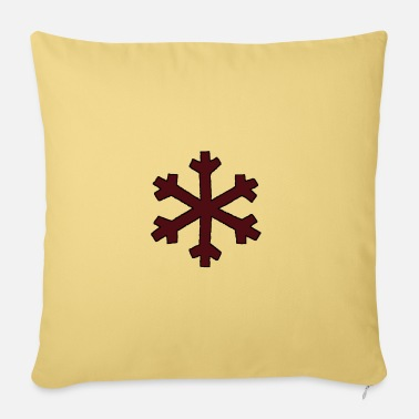 Flake Brown flake - Pillowcase 17,3'' x 17,3'' (45 x 45 cm)