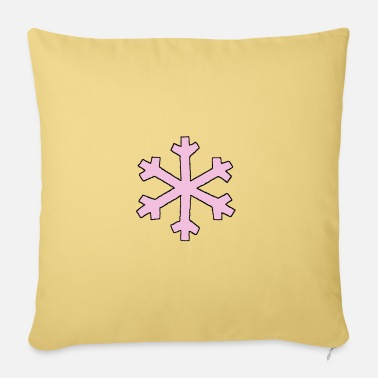 Flake Pink flake - Pillowcase 17,3'' x 17,3'' (45 x 45 cm)