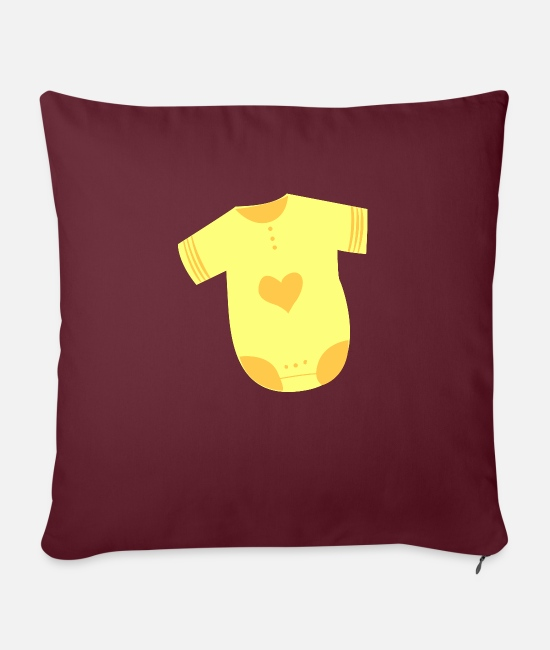 Formula Pillow Cases - Baby underwear symbol icon shape - Pillowcase 17,3'' x 17,3'' (45 x 45 cm) burgundy