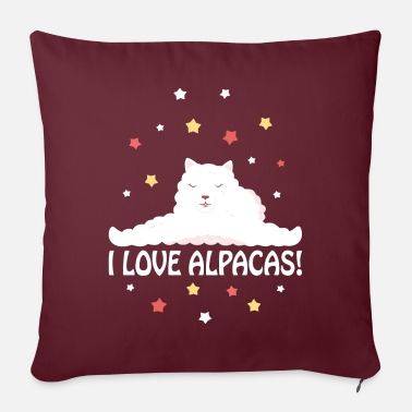 I Love Alpacas I love alpaca - Pillowcase 17,3'' x 17,3'' (45 x 45 cm)